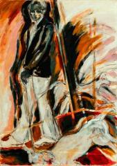 Amor de otoño -acrylic on canvas- 100 x 70 cm