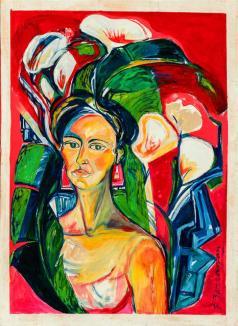 Bermeja cintura -acrylic / oil on canvas- 114 x 83 cm