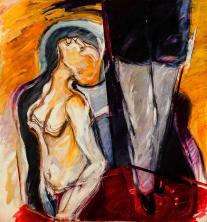 Caida de tiempo -acrylic on canvas- 140 x 130 cm