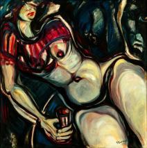 Caty esta abatida, se abandona -oil on canvas- 100 x 100 cm