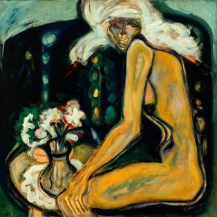 Caty y el dolor -acrylic on canvas 100 x 100 cm