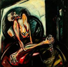 Caty y su mundo interior -oil on canvas- 100 x 100 cm
