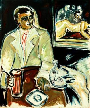 Caty y sus clientes -oil on canvas- 120 x 100 cm