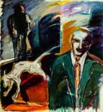 Cenizas de un adiós -acrylic on canvas- 107 x 97 cm