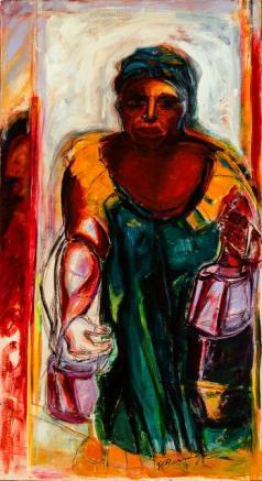Dominga-acrylic on canvas- 179 x 80 cm