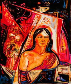 El mismo tiempo -acrylic / oil on canvas- 120 x 120 cm
