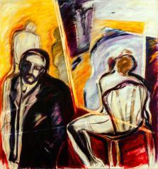 El que este libre de culpas -acrylic on canvas- 140 x 130 cm
