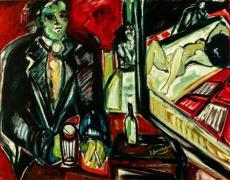 Esperando a Caty -oil on canvas- 120 x 100 cm