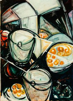 Ferias Latinas I -oil /acrylic on canvas- 125 x 90 cm