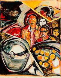 Ferias Latinas II -oil / acrylic on canvas- 89 x 70 cm