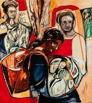 Homenaje a Mexico -acrylic on canvas- 158 x 140 cm