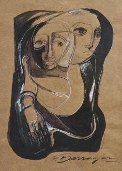 Interna Ariadna –ink on kraft paper- 59 x 45 cm