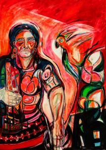 Regresos rojos -acrylic / oil on canvas- 100 x 70 cm