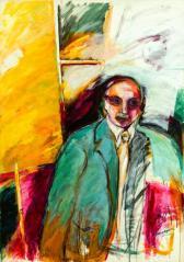 Si callara el recuerdo -acrylic on canvas- 135 x 60 cm