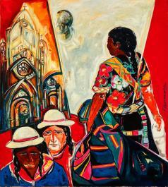 Silencios -acrylic / oil on canvas- 158 x 140 cm