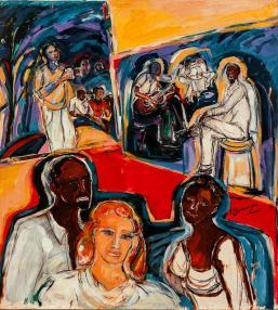 Sinfonia -acrylic on canvas- 100 x 91 cm