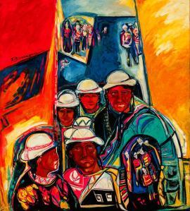 Tropicos -mixed on canvas- 158 x 140 cm